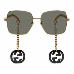 Gucci Gold and Black GG0724S Sunglasses