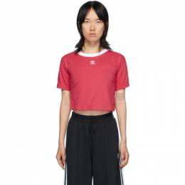 Adidas Originals Pink Logo Crop T-Shirt GD2360