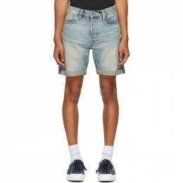 Nudie Jeans Blue Denim Josh Shorts 113355