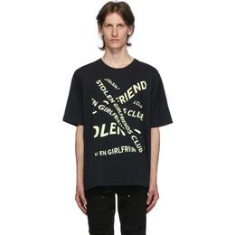 Stolen Girlfriends Club Black Banner T-Shirt C1-20T001B-D