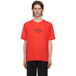 Stolen Girlfriends Club Red Techno Punk T-Shirt C1-20T001R-B