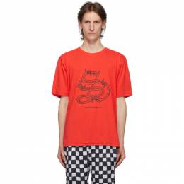 Stolen Girlfriends Club Red Barbwire T-Shirt C1-20T001R-G