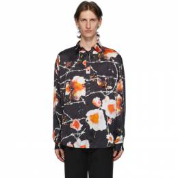 Stolen Girlfriends Club Black and Multicolor Floral Over Shirt C1-20241P