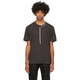 Craig Green Black Laced T-Shirt CGAW20CJETSS01
