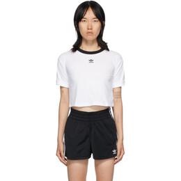 Adidas Originals White Logo Crop T-Shirt GD2359