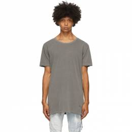 Ksubi Grey Distressed T-Shirt 62601