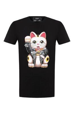 Хлопковая футболка Dom Rebel LUCKY/T-SHIRT