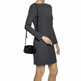 Prada Black Saffiano Lux Leather Mini Camera Crossbody Bag 301342
