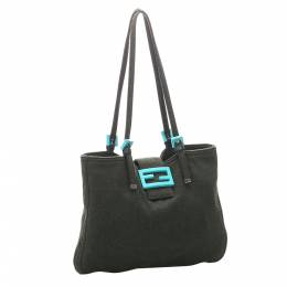 Fendi Black Canvas Tote Bag 300546