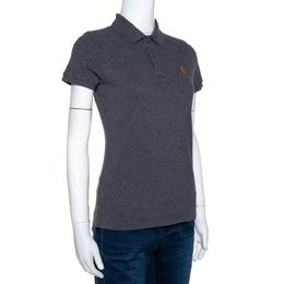 Ralph Lauren Grey Cotton Pique Skinny Polo T-Shirt S 301601