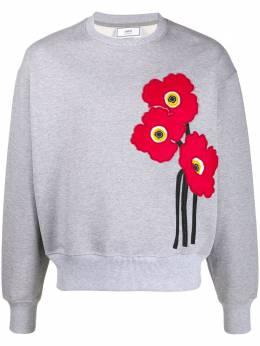Ami Paris джемпер с цветочной аппликацией A20HJ038747