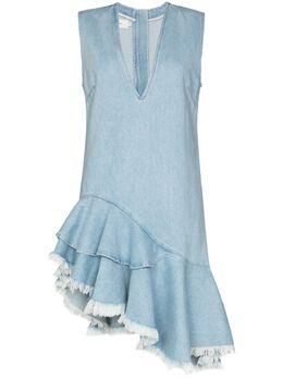 Marques'Almeida джинсовое платье асимметричного кроя PRE20DR0203DNM
