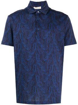 Etro рубашка поло с принтом пейсли 1Y8004073