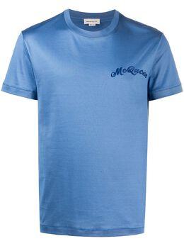 Alexander McQueen футболка с вышитым логотипом 624180QPX01