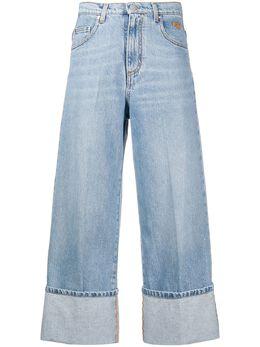 MSGM укороченные джинсы с завышенной талией 2943MDP42L207639