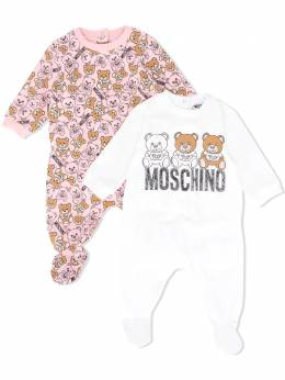 Moschino Kids комплект из двух боди с принтом MMY02CLBB48