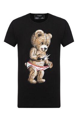 Хлопковая футболка Dom Rebel SNAP/T-SHIRT/25SW