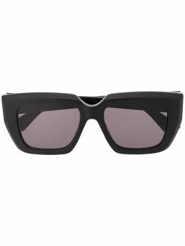 Bottega Veneta Eyewear солнцезащитные очки в квадратной оправе 628582V2330