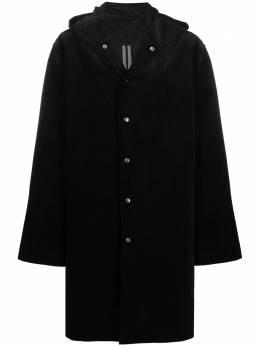 Rick Owens вельветовое пальто с капюшоном RU20F3981CY09