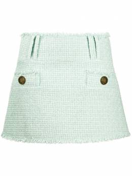 Balmain твидовая юбка мини UF14061C257