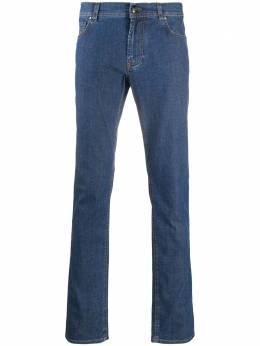 Corneliani джинсы прямого кроя с контрастной строчкой 854JK20120159