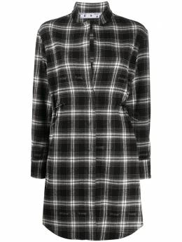 Off-White CHECK COULISSE DRESS BLACK NO COLOR OWDB217E20FAB0011000