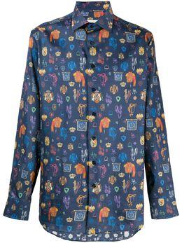 Etro рубашка с графичным принтом 129085748