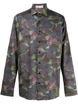 Etro рубашка с длинными рукавами и принтом 1K0945722