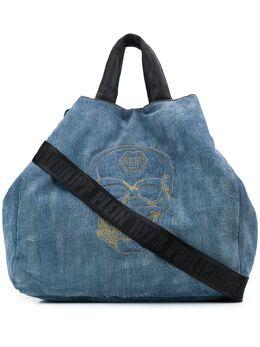 Philipp Plein сумка-хобо с вышивкой P20AWBA1240PDE004N