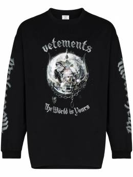 Vetements толстовка x The World Motorhead UAH21TR612