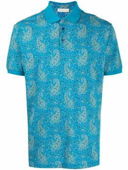 Etro рубашка поло с принтом пейсли 1Y8004063