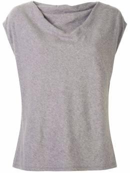 Rta футболка с рукавами кап и драпировкой WU04557110HTGR