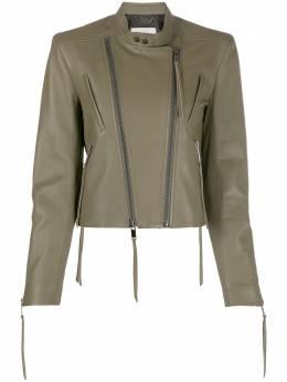 Dorothee Schumacher приталенная байкерская куртка с двойной молнией 844112