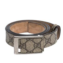 Gucci Beige GG Supreme Canvas Square Buckle Belt 95CM 301615