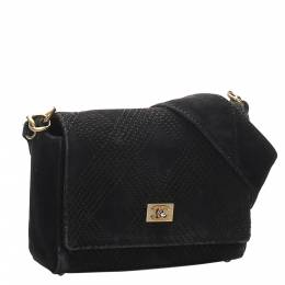 Chanel Black Wild Stitch Suede Leather Shoulder Bag 300692