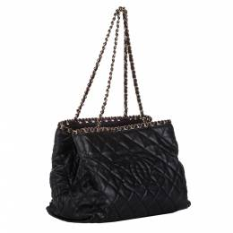 Chanel Black Quilted Leather CC Chain Me Tote Bag 298809