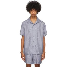 Tiger Of Sweden SSENSE Exclusive Blue Riccerde Short Sleeve Shirt T68982005S