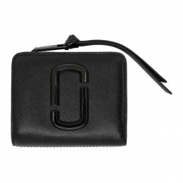Marc Jacobs Black Mini Snapshot Compact Wallet M0014986