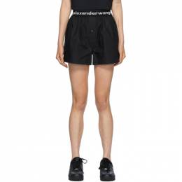 T By Alexander Wang Black Logo Boxer-Style Shorts 4WC2204048
