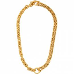 All Blues Gold Polished Double Necklace 101599