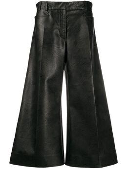 Stella McCartney брюки широкого кроя из искусственной кожи 601942SKB20