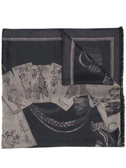 Etro шарф с вышивкой металлик 1H4239513