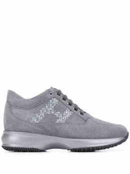 Hogan Interactive studded-logo sneakers HXW00N0DD00CR0B800