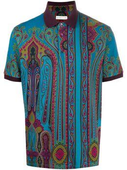 Etro рубашка поло с принтом пейсли 1Y8005582