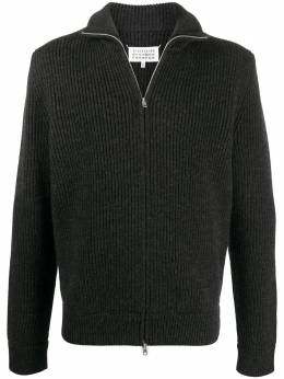 Maison Margiela zip-front knitted cardigan S50GP0143S16769