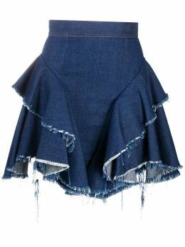 Almaz юбка с оборками и эффектом потертости SK0101F20