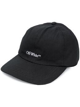Off-White logo embroidered cap OMLB022E20FAB0121001