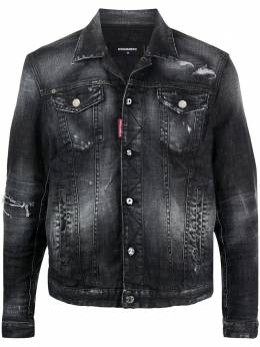 Dsquared2 джинсовая куртка с прорезями S74AM1106S30357