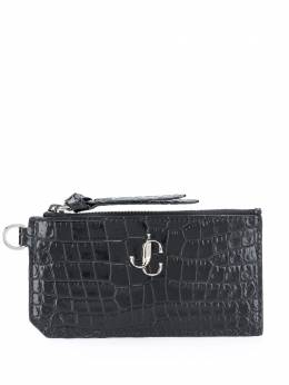 Jimmy Choo crocodile effect logo wallet LISECBH