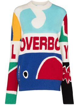 Charles Jeffrey Loverboy intarsia-knit logo-detail jumper COREAW20LLGJ